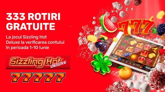 333 rotiri gratuite la sizzling hot deluxe pacanele online