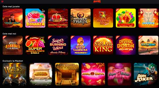 Maxbet cazino pacanele online