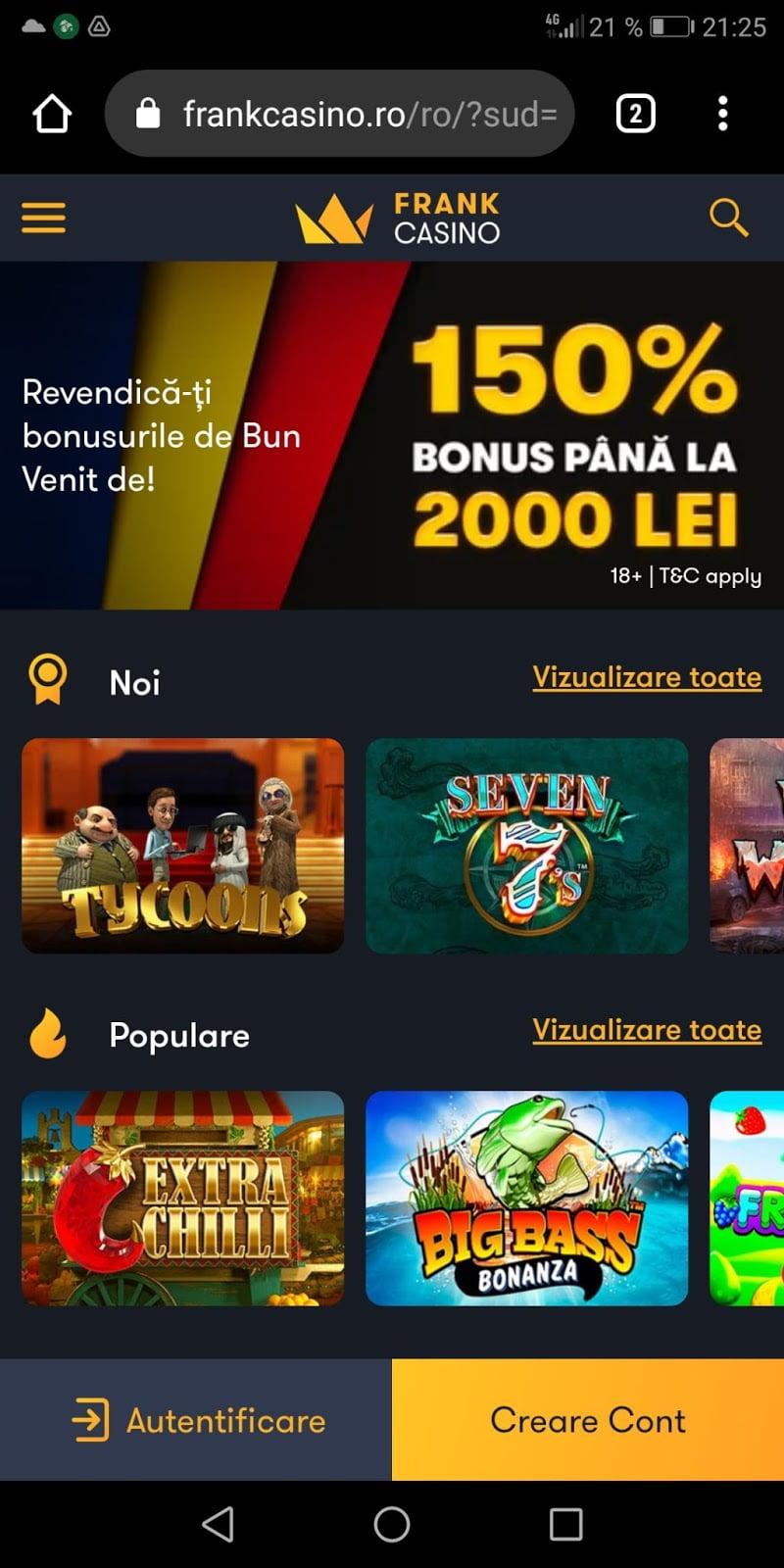 frank casino mobil